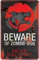 Cheap Outdoor Halloween decorations - Beware Zombie Animal Halloween Sign