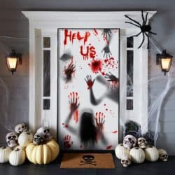Cheap Outdoor Halloween decorations - Giant Bloody Handprint Decorations