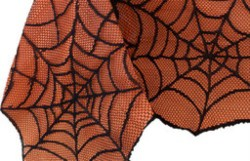 Crawling Halloween Spider Lace Lined Tablecloth (1)