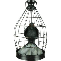 Vintage Halloween Decorations - Crow In Cage