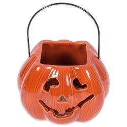 Fall Orange Pumpkpin Candy Dish