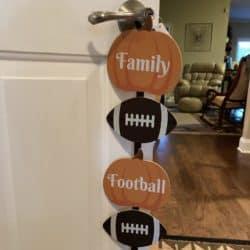 Football Fall Decoration
