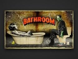 Frankenstein Bathroom door sign (2)