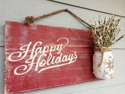 Happy Holidays Door Sign (1)