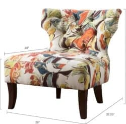 Madison Park Erika Hourglass Tufted Armless Chair