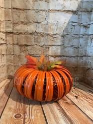 Vintage Halloween Decorations - Mason Jar Lid Pumpkin