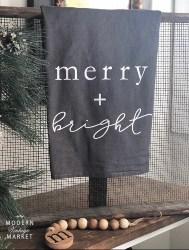 Merry + Bright Tea Towel (1)