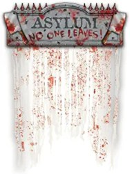 Cheap Halloween Decorations - No One Leaves Doorway Curtain