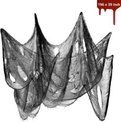 Outdoor Halloween party decorations - Black Creepy Cloth