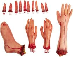 Outdoor Halloween party decorations - Fake Body Part