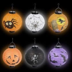 Outdoor Halloween party decorations - Paper Lanterns with LED Light