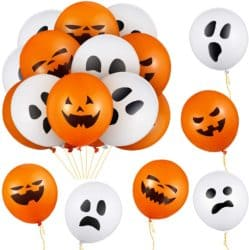 Outdoor Halloween party decorations - Pumpkin and Ghost Expression Balloons