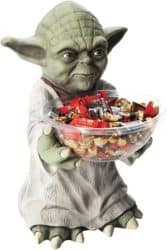 Outdoor Halloween party decorations - Star Wars Yoda Candy Bowl Holder