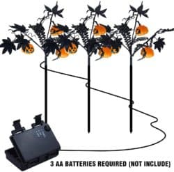 Outdoor Halloween yard decorations - Pumpkin Garden Stake Lights