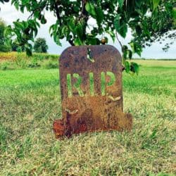 Outdoor vintage outdoor Halloween decorations - Gravestone Yard Stake