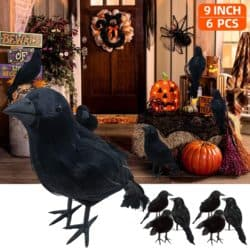 Outdoor vintage outdoor Halloween decorations - lack Feathered Crows
