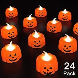 Pumpkin Flameless Candles