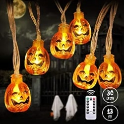 Cheap Halloween Decorations - Pumpkin String Lights