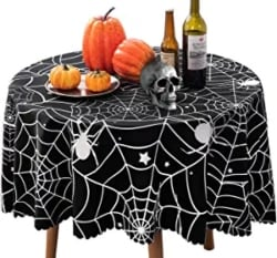 Round Spider Web Tablecloth