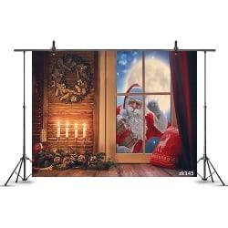 Santa Claus Knocking At Window Backdrop (1)