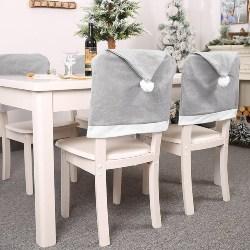 Santa Hat Christmas Chair Cover (1)