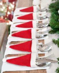 Santa Hat Silverware Holder (1)