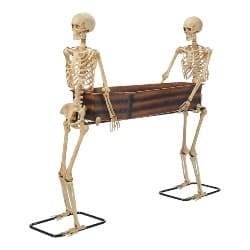 Skeleton Duo Carrying Coffin