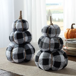 Stacked Fabric Pumpkins