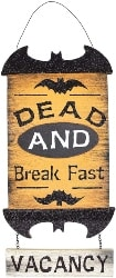 Cheap Halloween Decorations - Wood Door Sign (1)