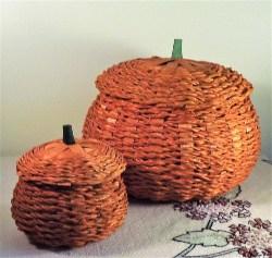 Woven Pumpkin Basket (2)