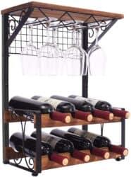 2 Tier Wood Wine Rack