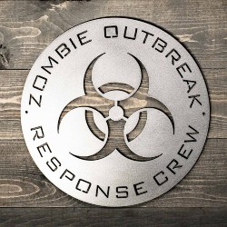 Zombie Outbreak Metal Sign (1)