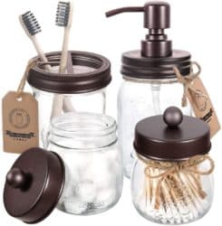 bathroom decorations for fall - Mason Jar Bathroom Accessories