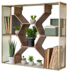 bohemian mid century modern living Room Furniture - Honey Comb Shelf