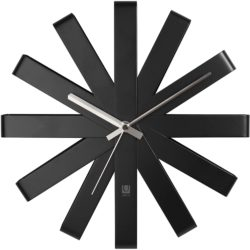 bohemian mid century modern living Room Furniture - Umbra Ribbon Clock