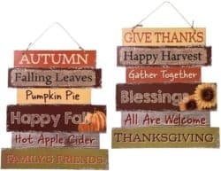 door decorations for fall - Fall Welcome Wood Sign
