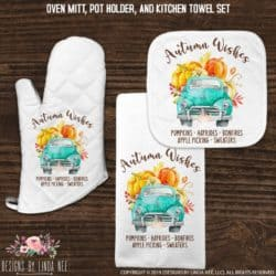 kitchen decorations for fall - Fall Kitchen Towel