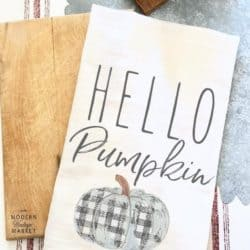 kitchen decorations for fall - Pumpkin Kitchen Towel
