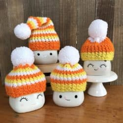 room decorations for fall - Knitted Autumn Hat