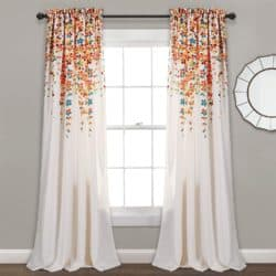 room decorations for fall - Weeping Flowers Window Curtain Set