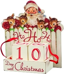 vintage christmas decorations - Christmas Countdown Box (1)