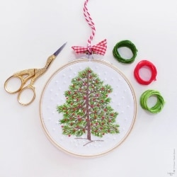 Christmas Tree Hand Embroidery Kit