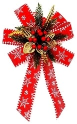 vintage christmas decorations - Holiday Bow (1)