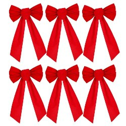 Red Velvet Christmas Bow