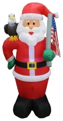 Santa Claus With Eagle and American Flag (1)