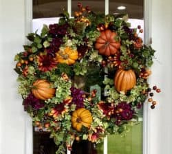 Floral Pumpkin Wreath