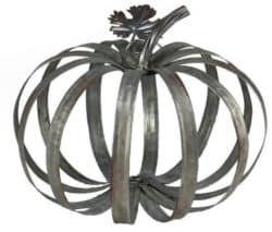 Galvanized Metal Pumpkin