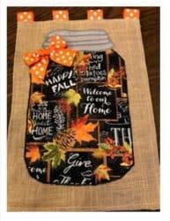 """Give Thanks"" Burlap Mason Jars Hanger"