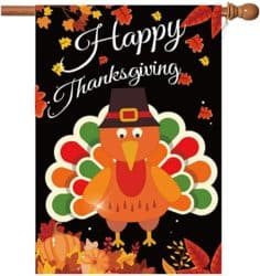 """""""Happy Thanksgiving"""" Flag Sign"""