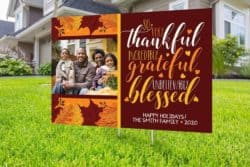 Personalized Family Photo Thanksgiving Yard Sign